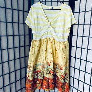 ModCloth sucrefas fall theme a line retro dress 4X